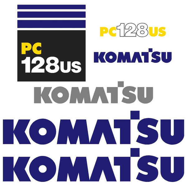 Komatsu PC128US-6 Decals Stickers