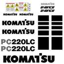 Komatsu PC220LC-6 Decal Sticker Set