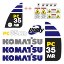 Komatsu PC35MR-2 Decal Sticker Set