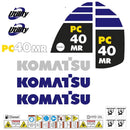 Komatsu PC40MR-2 Decal Sticker Set
