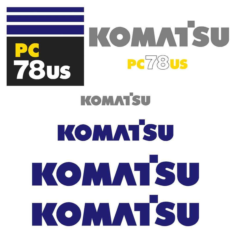 Komatsu PC78US-6 Decals Stickers