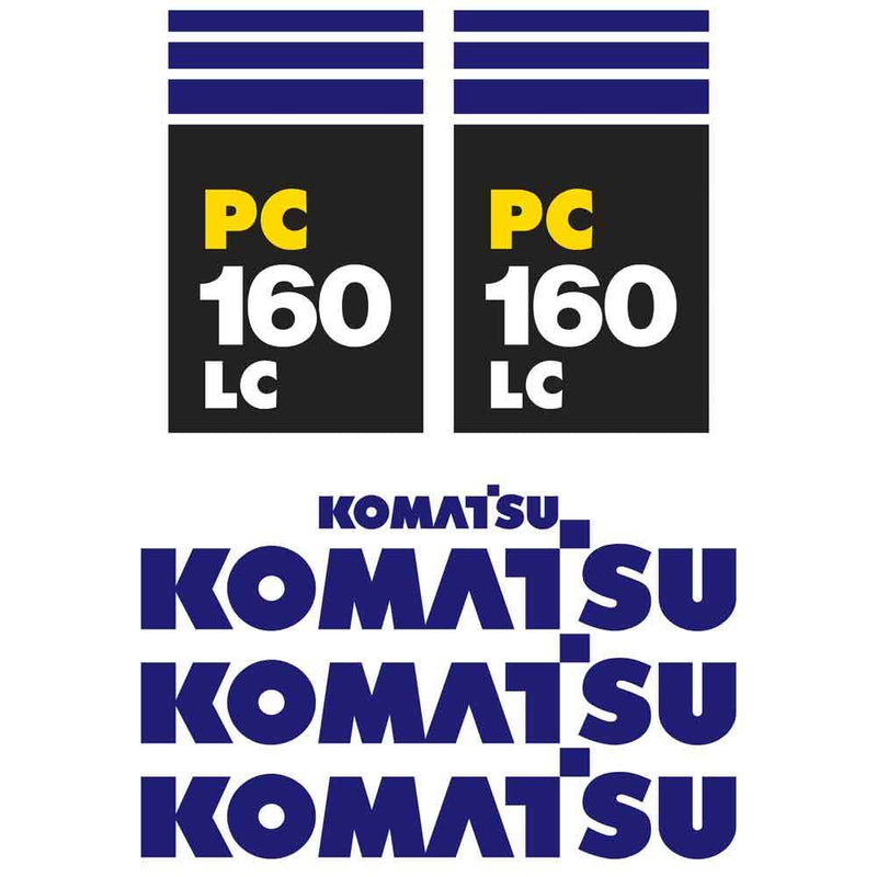 Komatsu PC160LC-7 Decal Sticker Set