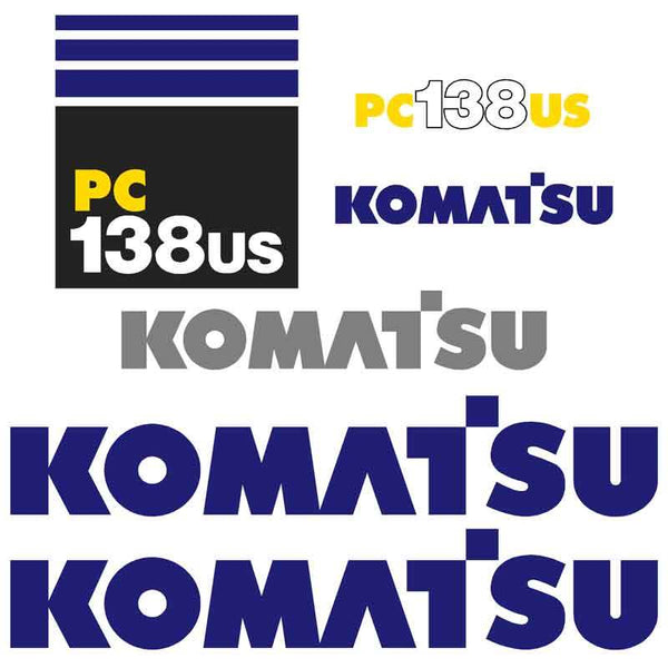 Komatsu PC138US Decals Stickers Set