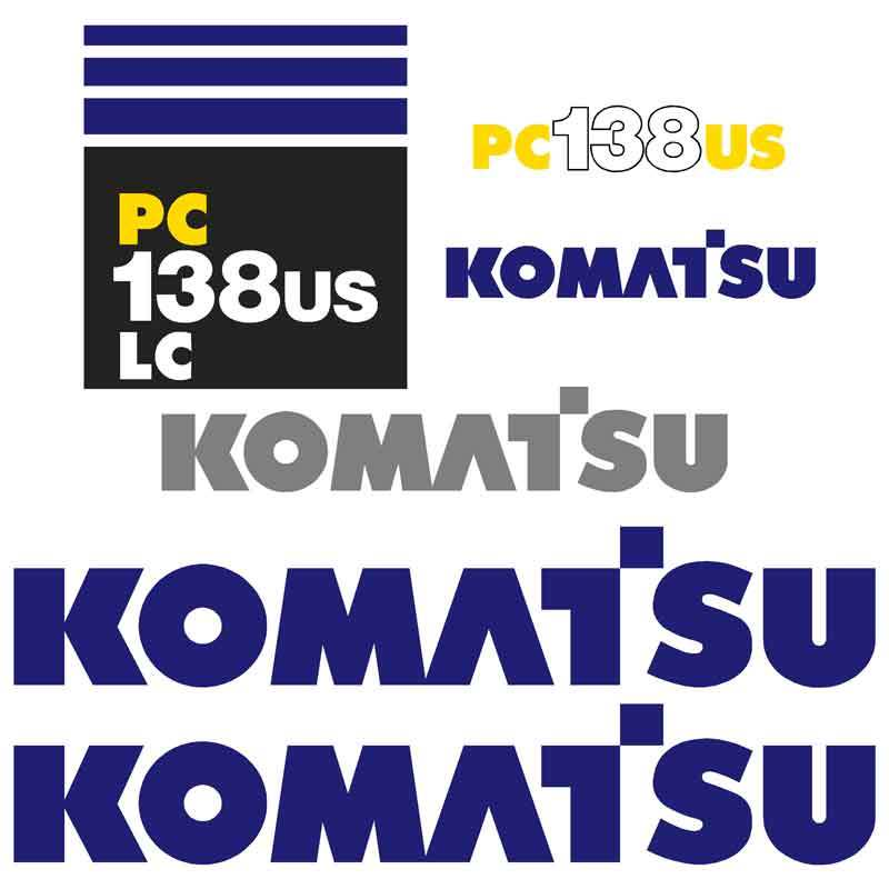 Komatsu PC138USLC Decals Stickers Set
