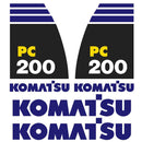 Komatsu PC200-8 Decal Sticker Set