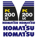 Komatsu PC200LC-8 Decal Sticker Set