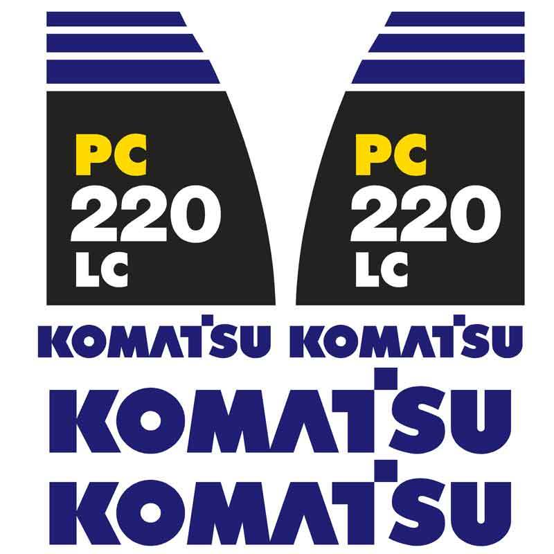 Komatsu PC220LC-8 Decal Sticker Set