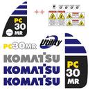 Komatsu PC30MR-2 Decal Sticker Set