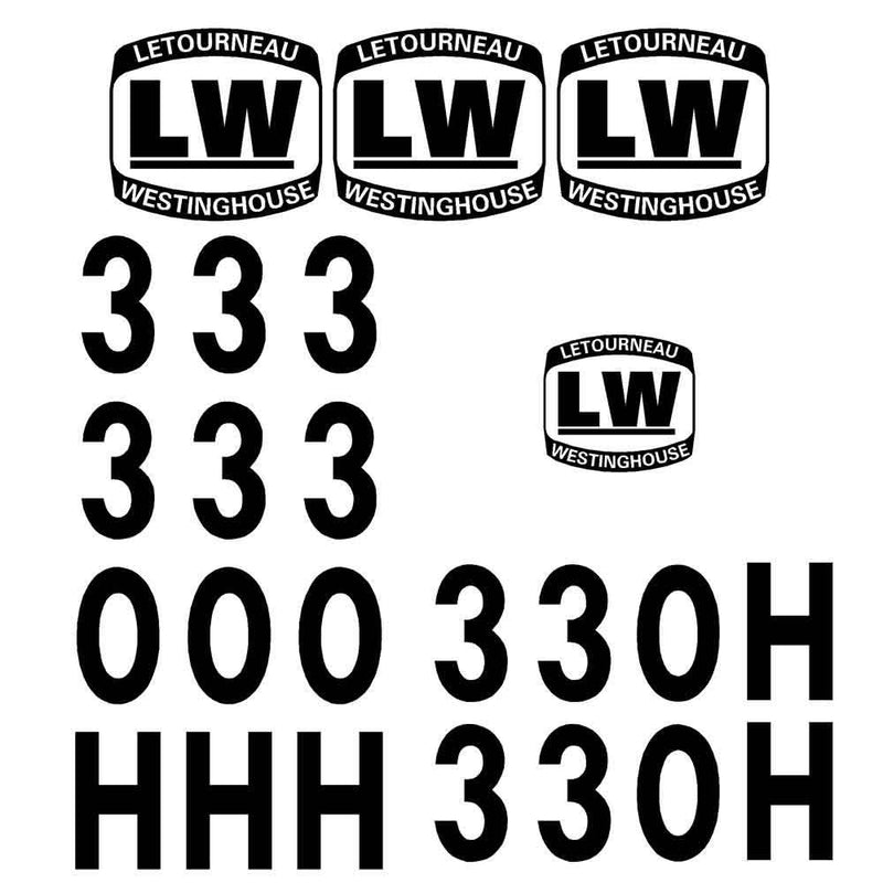 Letourneau 330H Decals Stickers