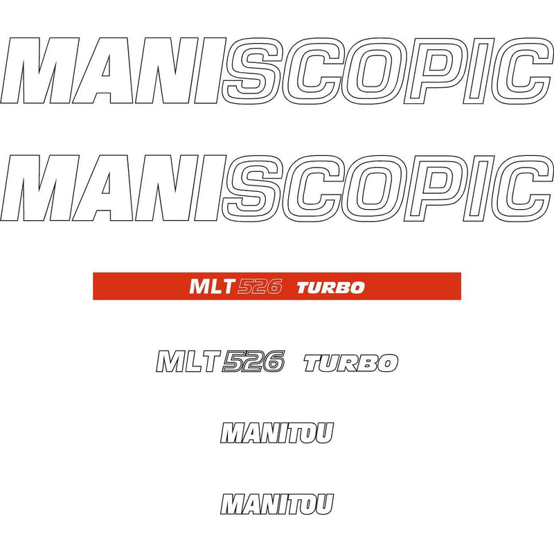 Manitou MLT526 Turbo Decals