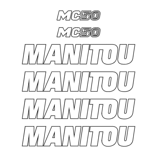 Manitou MC50 Decals Stickers