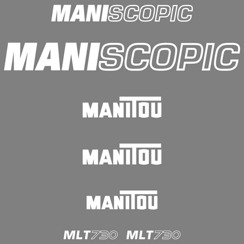 Manitou MLT730 Decals Stickers