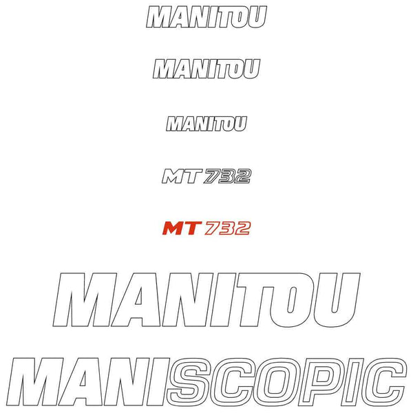 Manitou MT732 Decals Stickers