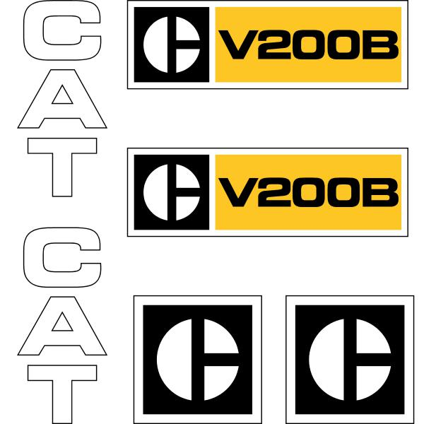 CAT V200B Decals