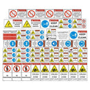 Mobile Rock Crusher Safety Decals Stickers