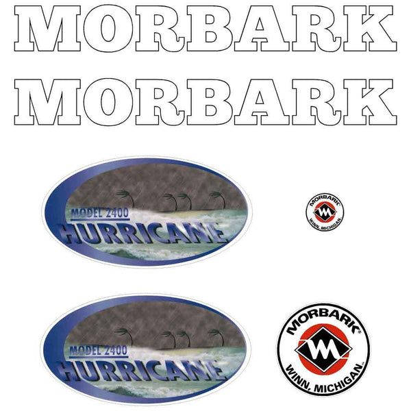 Morbark Hurricane 2400 Decals Stickers