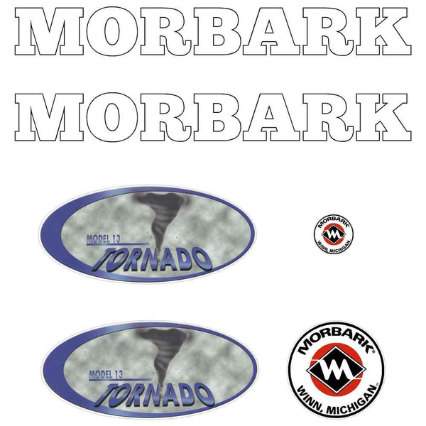 Morbark Tornado 13 Decals Stickers