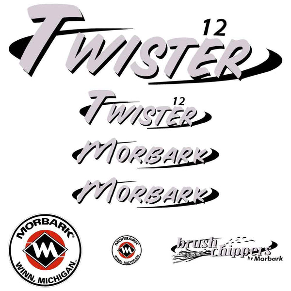 Morbark Twister 12 Decals Stickers
