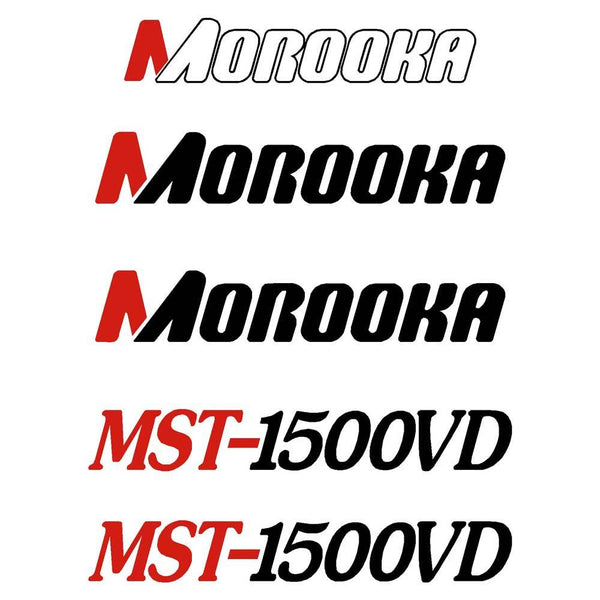 Morooka MST1500VD Decals Stickers