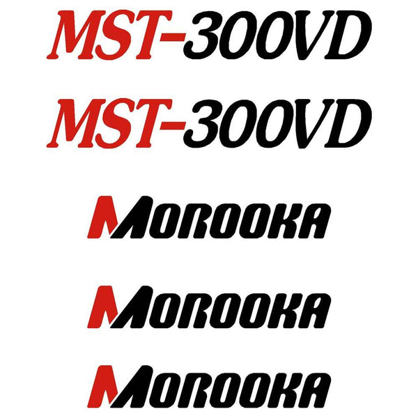 Morooka MST300VD Decals Stickers