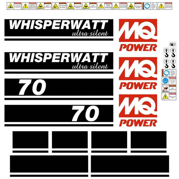 Multiquip DCI70SS 70kva Generator Decals Stickers