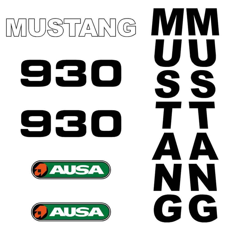Mustang 930 Decals Stickers Set