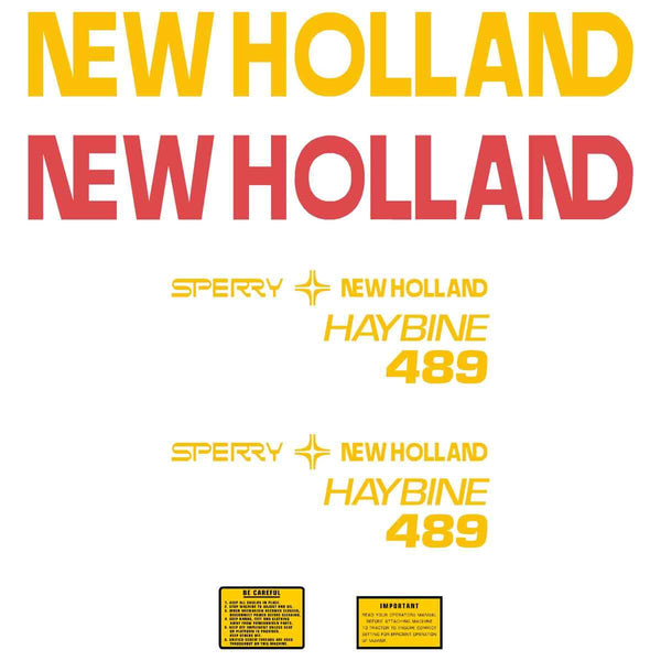 New Holland Haybine 489 Decal Set