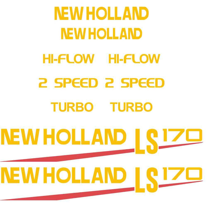New Holland LS170 Decal Set