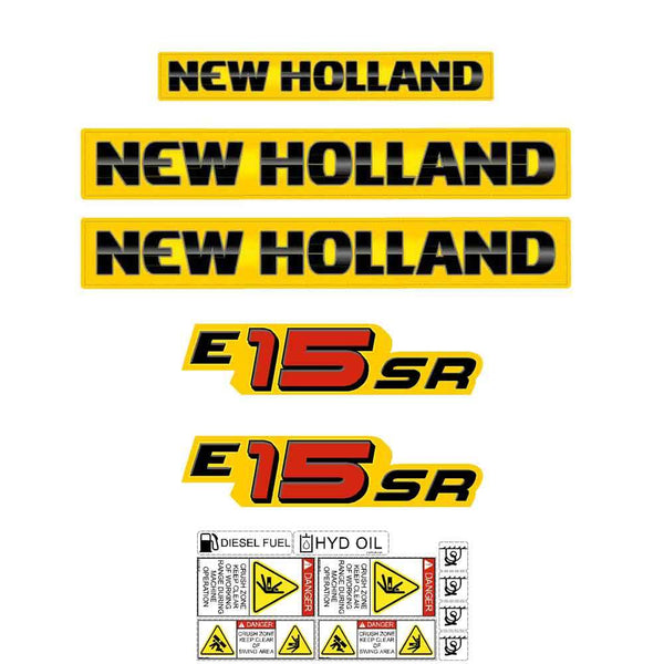 New Holland E15SR Decal Set
