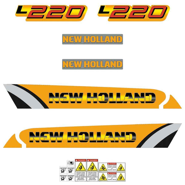 New Holland L220 Decals Stickers