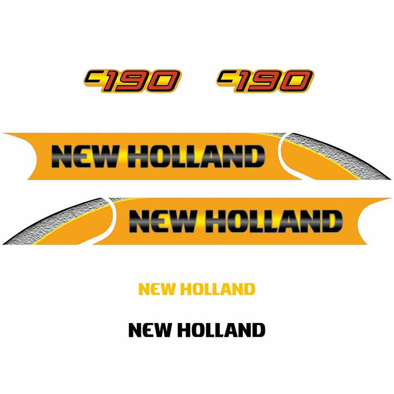New Holland C190 Decal Set