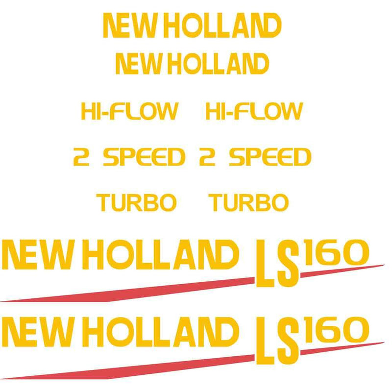 New Holland LS160 Decal Set