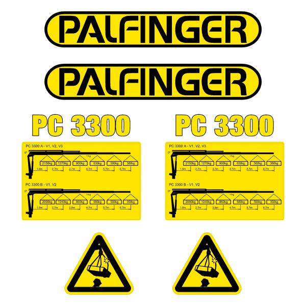 Palfinger PC3300 Decals Stickers Kit