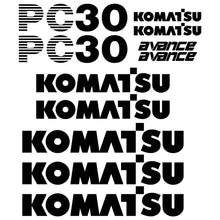 Load image into Gallery viewer, Komatsu PC30-7 Decals