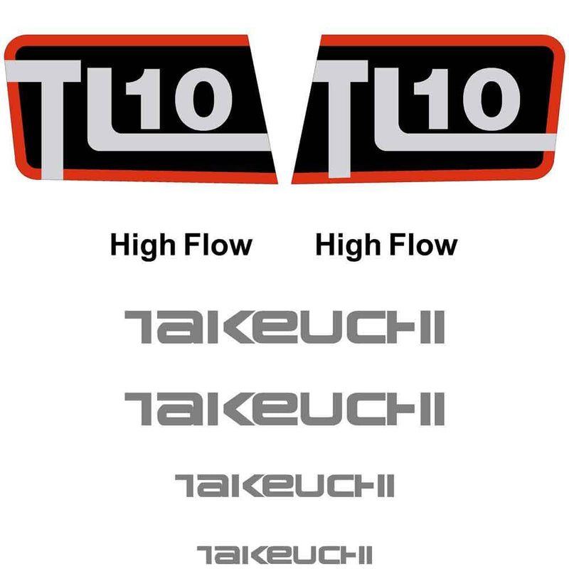 Takeuchi TL10 Decals Stickers Kit