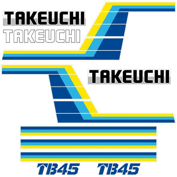 Takeuchi TB45 Decal Sticker Kit