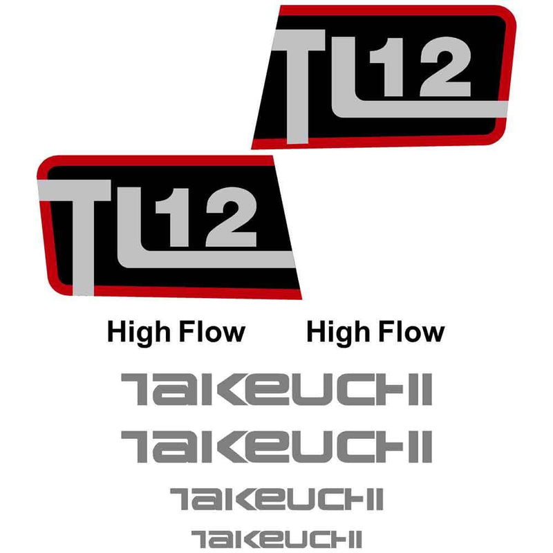 Takeuchi TL12 Decals Stickers Kit