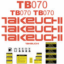 Takeuchi TB070 Decal Sticker Kit