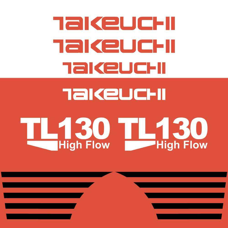 Takeuchi TL130 Decal Sticker Kit