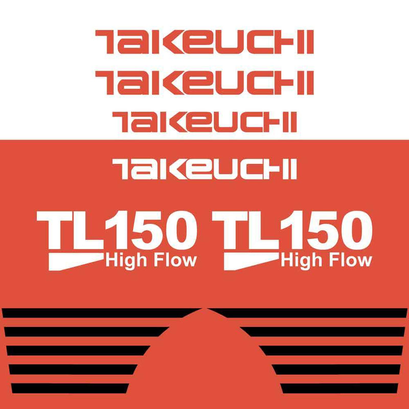 Takeuchi TL150 Decal Sticker Kit