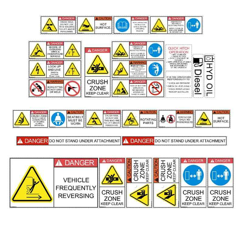 Telehandler Safety Decal Kit