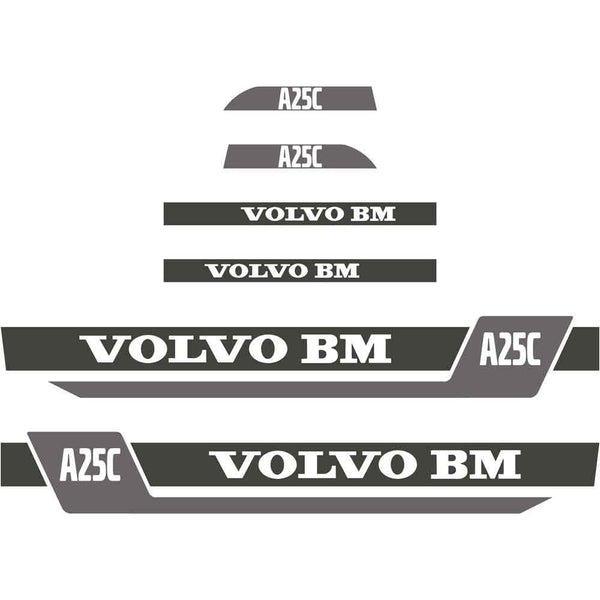 Volvo A25C Decals Stickers