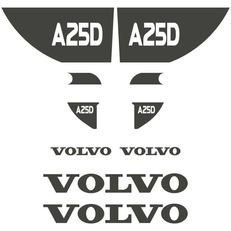 Volvo A25D Decals Stickers