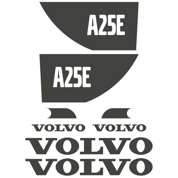 Volvo A25E Decals Stickers