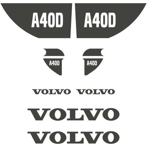 Volvo A40D Decals Stickers