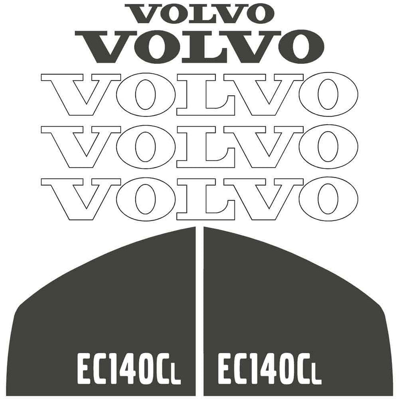 Volvo EC140CL Decals Stickers