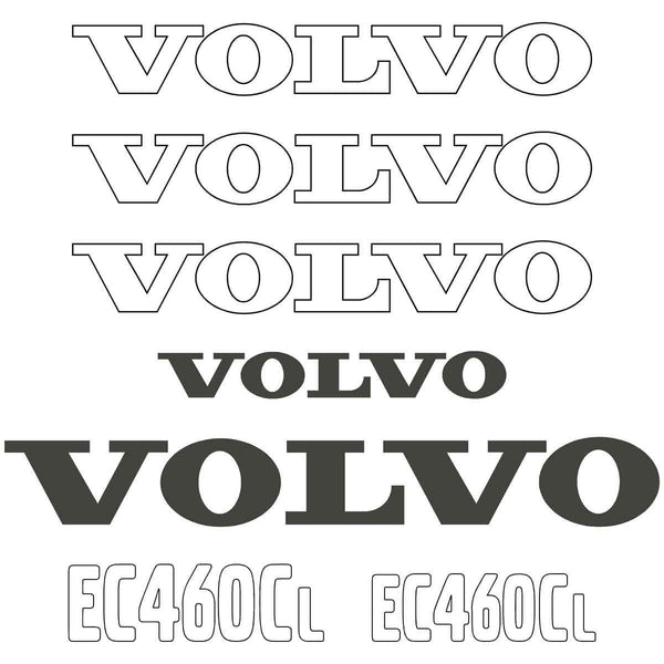 Volvo EC460CL Decals Stickers