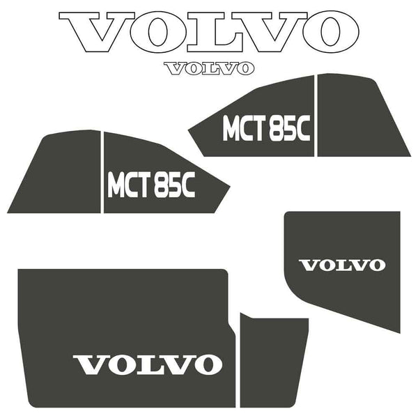 Volvo MCT85C Decals Stickers