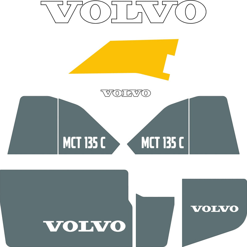 Volvo MCT135C Decals