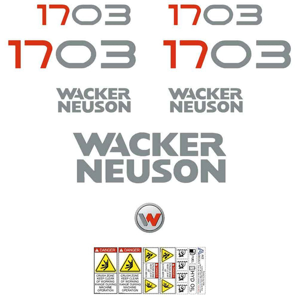 Wacker Neuson 1703 Decal Sticker Set